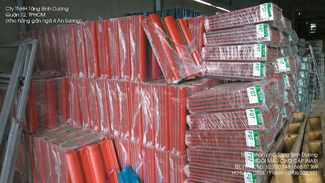 Ngói INARI bọc nylon chống trầy xước