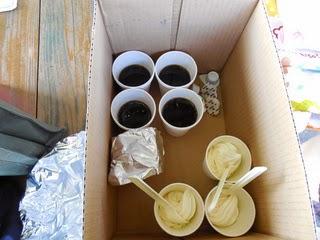 ソフトクリームとコーヒー