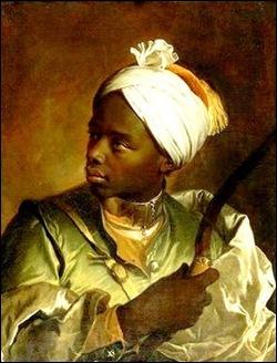Hyacinthe Rigaud, Buste d'un noir tenant un arc