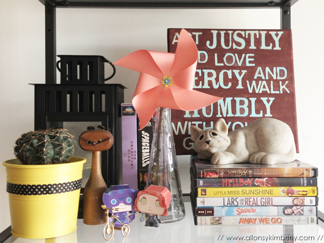 Bookshelf Styling by Allons-y Kimberly