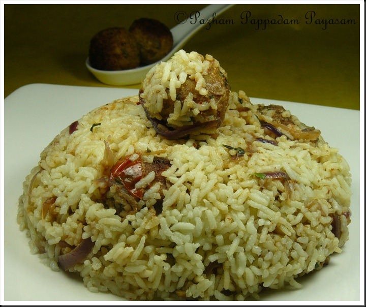 Baked fish kofta rice