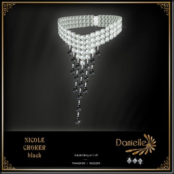 DANIELLE Nicole Choker Black'