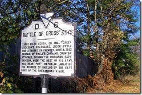 Battle of Cross Keys marker D-6 on U.S. Route 33