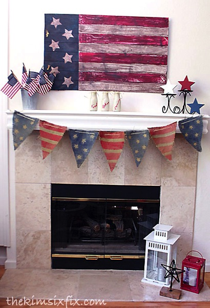 Memorial day mantel
