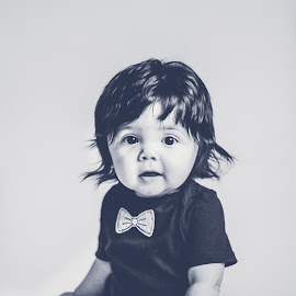 Bowtie baby by Katherine Terrel - Babies & Children Babies ( child portraits, child photography, sweetheart, baby, hair, baby boy )