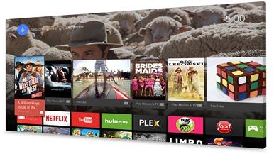 Googlen Android TV:n yleisnäkymä