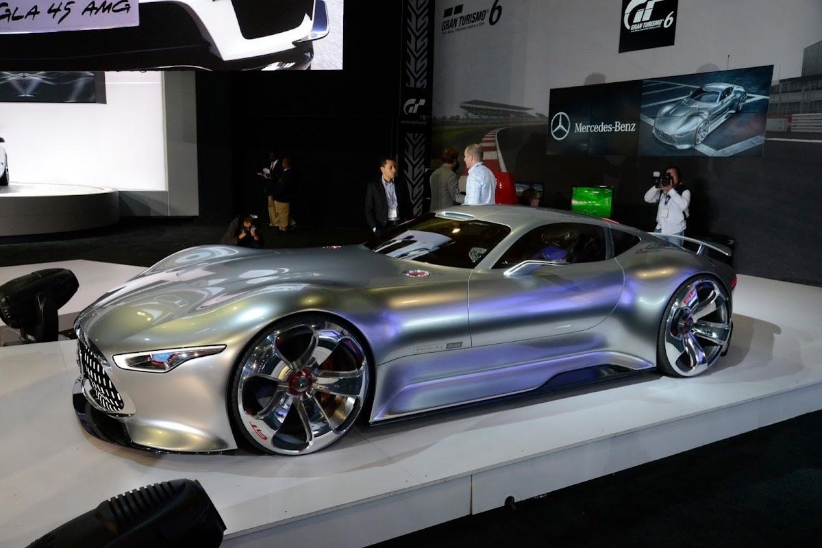 mercedes benzs gran turismo 6 amg vision concept jumps into life at la auto show mercedes benz silver - Mercedes Benz Silver Lightning Real