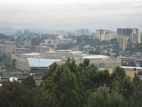 The UN Convention center seen from the Addis Hilton