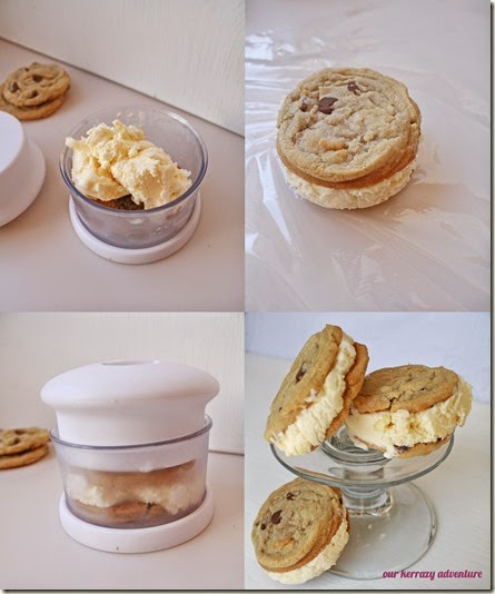ice cream cookie collage