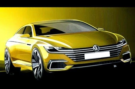 Next-gen Volkswagen Passat CC 2015 previewed 1