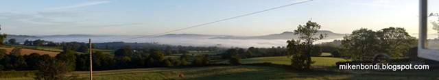 Morning view from Drewin Farm