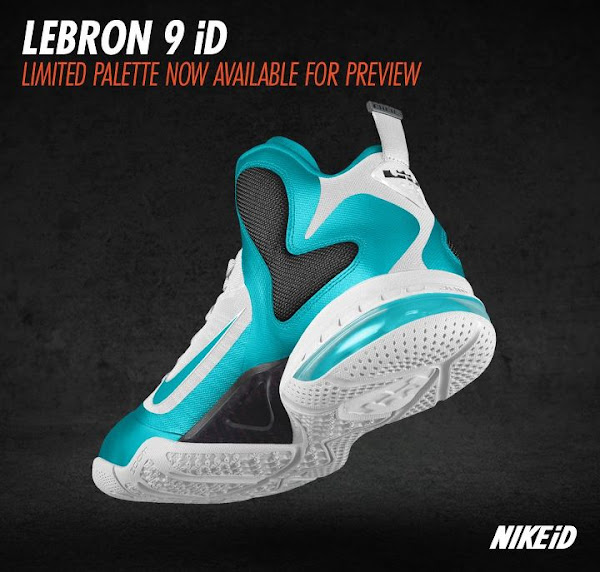 Nike LeBron 9 iD Update Limited Palette Option Preview