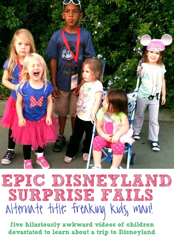 Epic Disneyland Surprise Fails: 5 hilariously awkward videos of children devstated to learn they are going to Disneyland. Kids, man! Amirite?