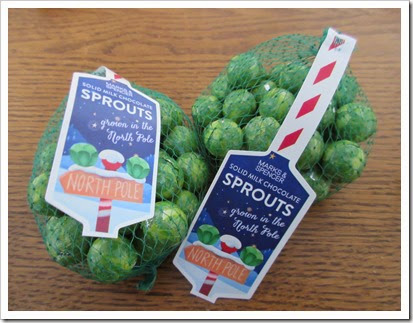 M & S Chocolate Sprouts