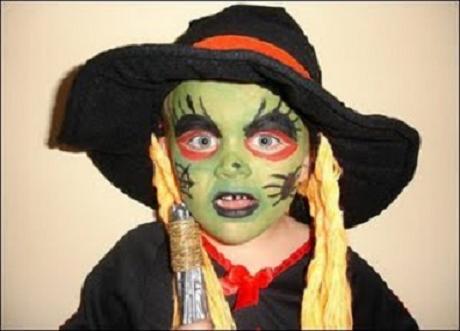 Ideas de maquillaje de bruja para halloween manualidades - Caras de brujas ...