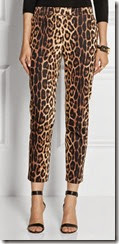 Moschino Cheap and Chic Leopard Print Capri Pants