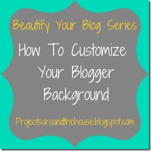 How to customize your blogger background