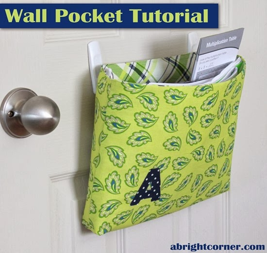 wall pocket tutorial