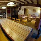 Salle à manger, salon et cuisine 1er étage chalet L'Orée du Bois - Location - Les Carroz