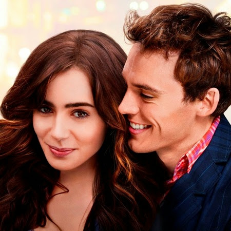 Lily Collins and Sam Claflin in Love, Rosie