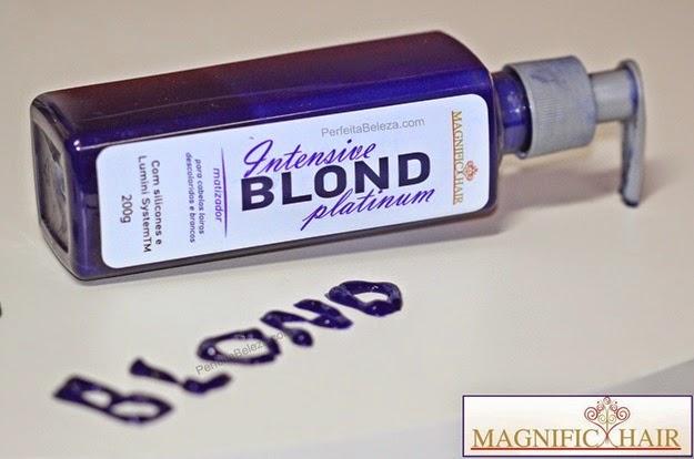 matizador magnific hair, intensive blond platinum, matizador para loiras