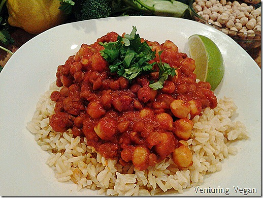 Indian lentil chickpea stew