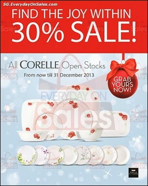 Corelle Cookware Sale On All Open Stocks December Singapore Jualan Gudang EverydayOnSales Offers Buy Sell Shopping