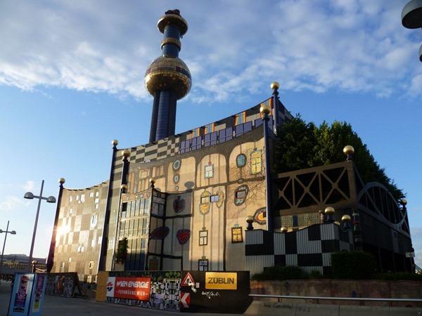 Мусоросжигательный завод Хундертвассера в Вене