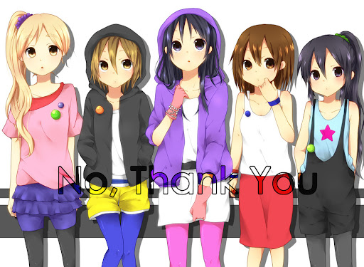 K-On No Thank You ending alternate costumes Mio Azusa Ritsu Mugi Yui