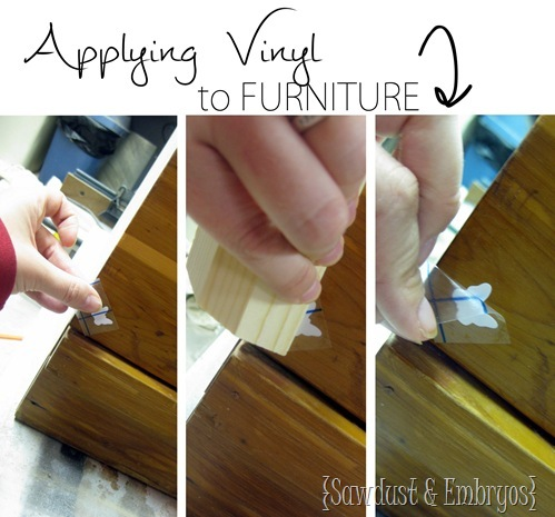 Applying Vinyl to Furniture (to use as a stencil!) SAWDUST AND EMBRYOS