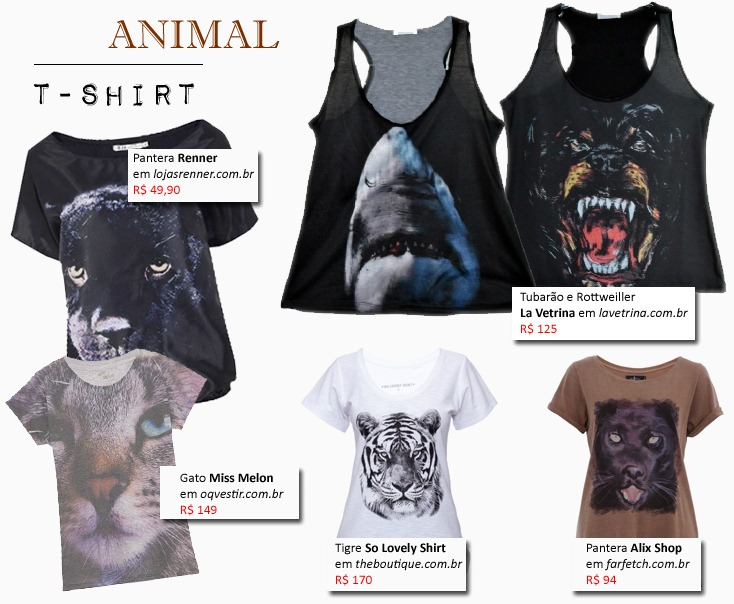 camisetas-estampas-animais-animal-tshirt
