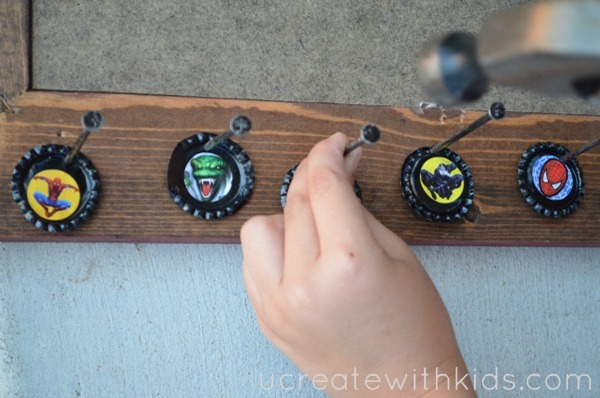 Bottle Cap Zipper Pull Tutorial Step5