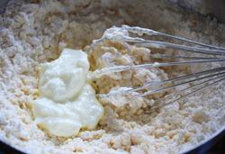 step 2 - flour,curd