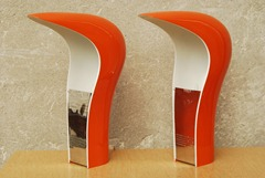 Lamperti - Casati and Ponzio Studio D.A. - Pelota table lamp, orange