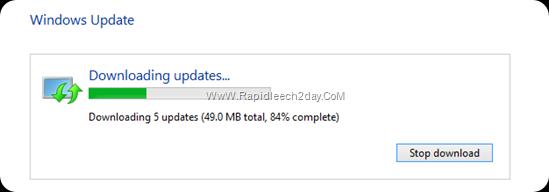 Downloading updates windows 8