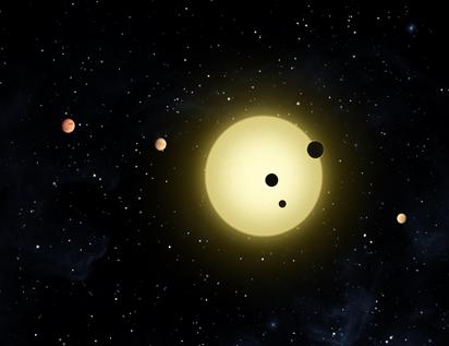 Kepler-11 parecido com o Sistema Solar