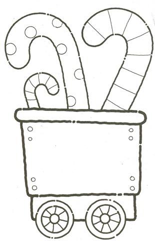 Trenzinho de natal em EVA,molde natal eva,molde em eva,desenhos de natal