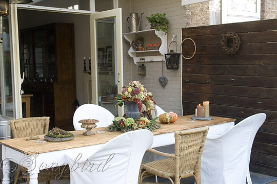 Fall Outside Decoration Garden Table 1