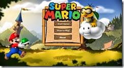 القائمة الرئيسية للعبة سوبر ماريو بروز Super Mario Bros لويندوز 8