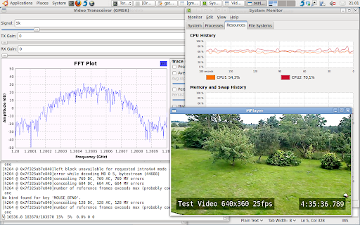 The simple video transceiver still running well after 4.5 hours.