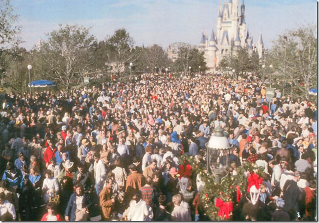 Tips for surviving Disney World during Christmas through New Year's and other times the parks are packed.