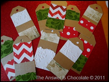 Christmas Tags Step 2