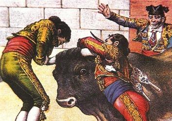 Cogida Curro Guillén (Detalle) La Lidia 1883-09-24