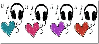 smaller music heart collage