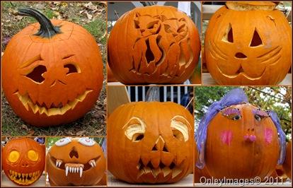 pumpkin faces collage