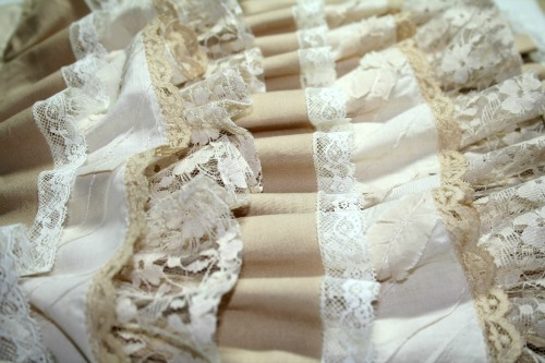 Rows of ruffles
