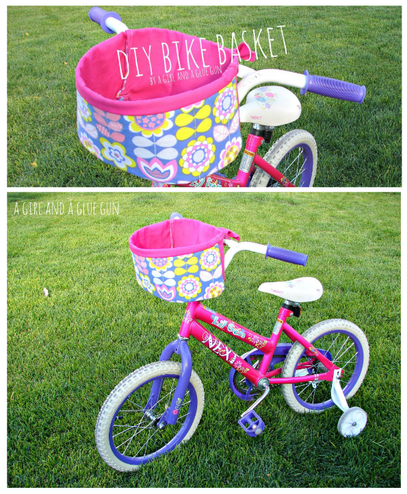 DIY Bike Basket by A Girl and A Glue Gun