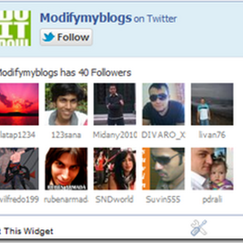 Add 'Twitter follow fan box' widget for blogger