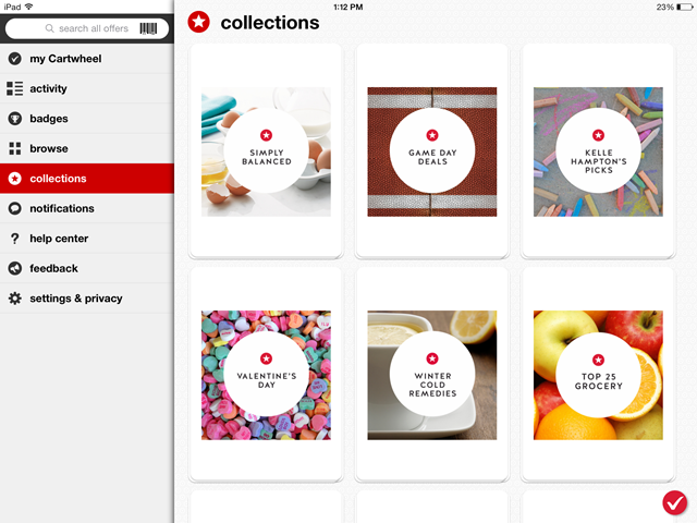Target Cartwheel - Browse by Collections