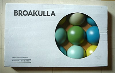 Broakulla half-ball wall art decorative object by Katarina Brieditis, packaging